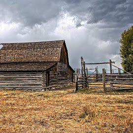 Barn by Richard Michael Lingo - Buildings & Architecture Other Exteriors ( exteriors, barn, buildings, wyoming, architecture )