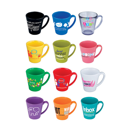Colourful Plastic Mugs