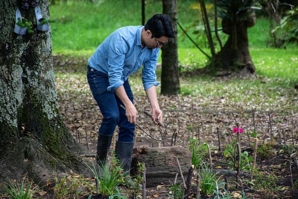 Emmanuel Escobar en el Jardín Funcional