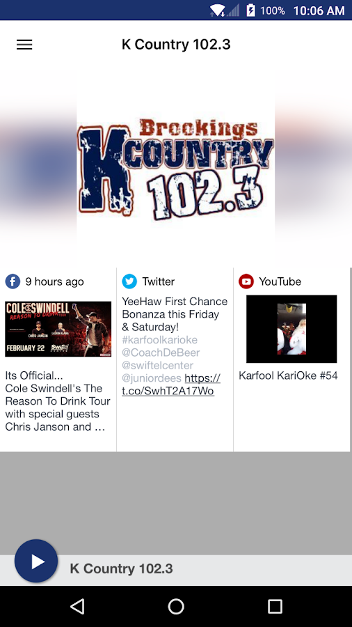 K Country 102.3- screenshot