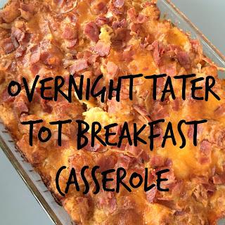 Overnight Tater Tot Breakfast Casserole
