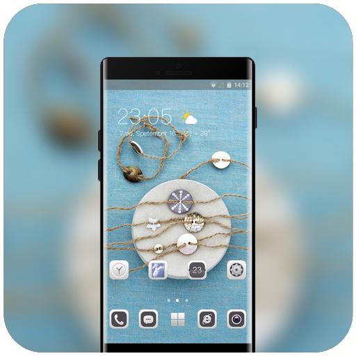 Theme for HTC u11 comfortable life cute buttons icon