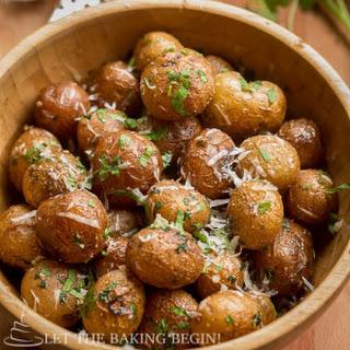 Pan Seared Parmesan Little Potatoes