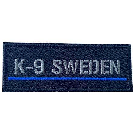 Tygmärke K9 SWEDEN