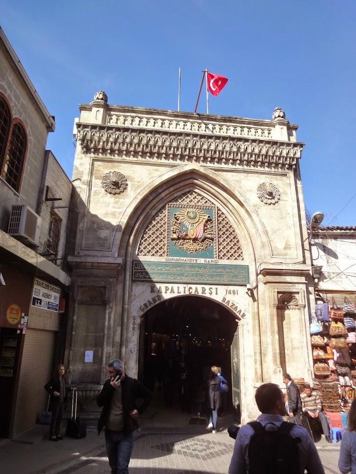 Porte d'accès au Grand bazar d'Istanbul