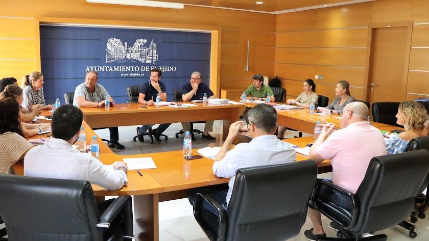 Reunión de la Junta de Gobierno Local del Ayuntamiento de El Ejido celebrada esta semana.