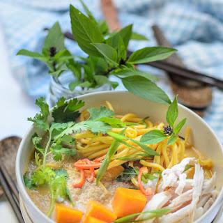 Noodle with Creamy Pumpkin Soup