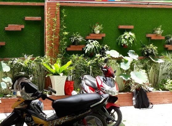 Cỏ nhân tạo thiết kế quán ăn nhậu, restaurant, khách sạn
