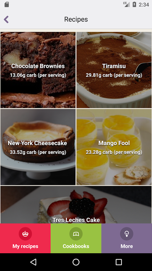 Cook and Count: Diabetes recipe app & carb counter- screenshot