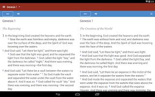 Screenshot of Bible Gateway