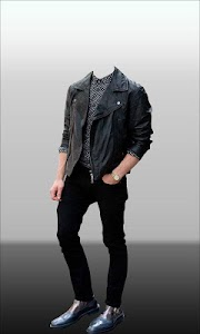 Men Leather Jacket Photo Suit screenshot 1
