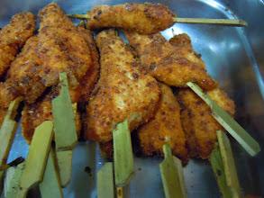 Photo: Brochette de poulet au citron confit