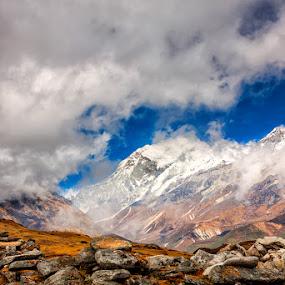 Mt. Pandim by Mrigankamouli Bhattacharjee - Landscapes Mountains & Hills ( mountain, himalaya, snow, india, pandim, himalayas, sikkim )