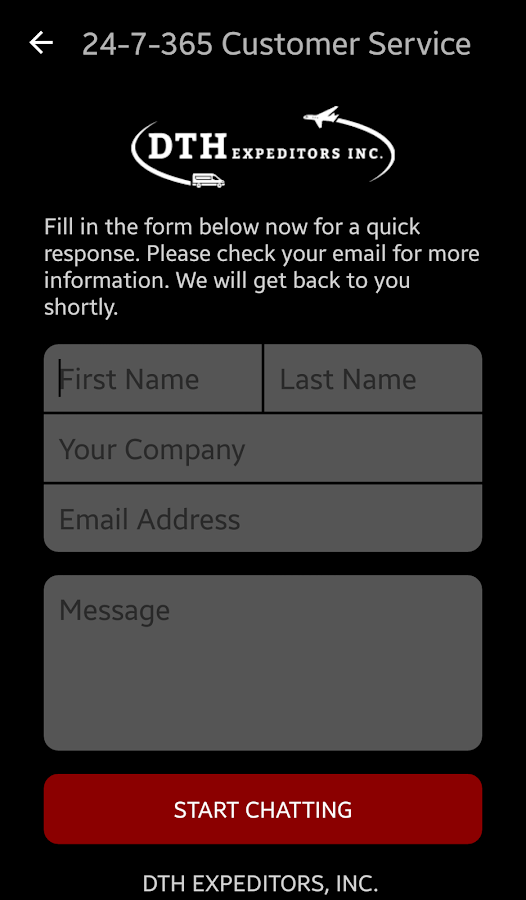 DTH Expeditors, Inc.- screenshot