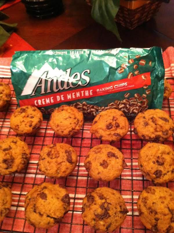 Our Newest And Favorite Breakfast Muffins. Love That Mint And Chocolate.