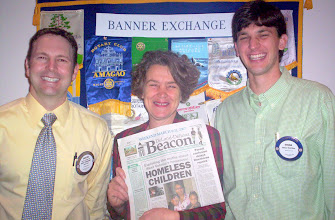 Photo: Dr. Dustin Ramey, Barb Shepherd (DeLand-Deltona Beacon Co-Publisher) , and Ethan Hutchins - 3-13-2007
