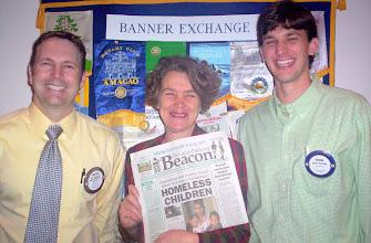 Photo: Dr. Dustin Ramey, Barb Shepherd (DeLand-Deltona Beacon Co-Publisher) , and Ethan Hutchins - 3-13-2007