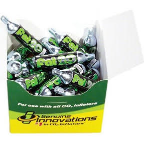 Genuine Innovations 20g Threaded CO2 Cartridges: Box of 20