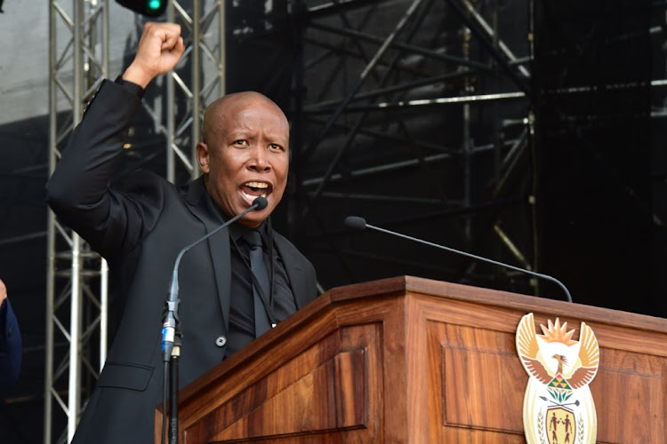EFF leader Julius Malema delivers a fiery speech during Winnie Madikizela-Mandela's funeral.