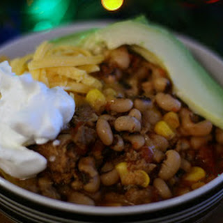 Black Eyed Pea Chili in the Slow Cooker.