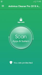 Antivirus Cleaner Pro 2018 AppLock - náhled