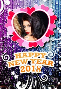 2018 New Year Frames Editor - náhled