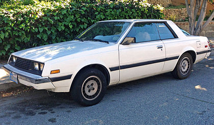 Boxy two door car from the 80s