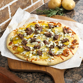 Steak and Potato Pizza