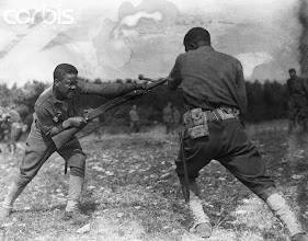 Photo: Black Soldiers in Bayonet Training --- Image by © CORBIS