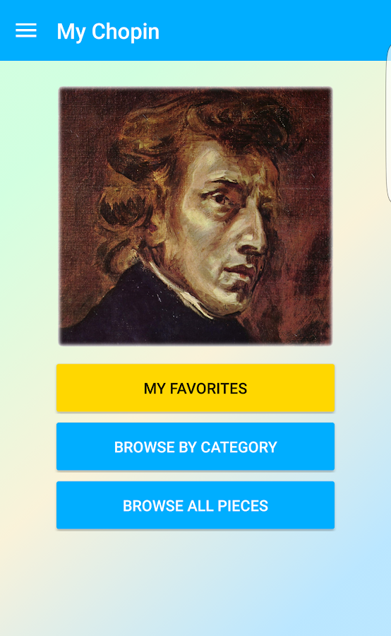 Screenshots of My Chopin for iPhone