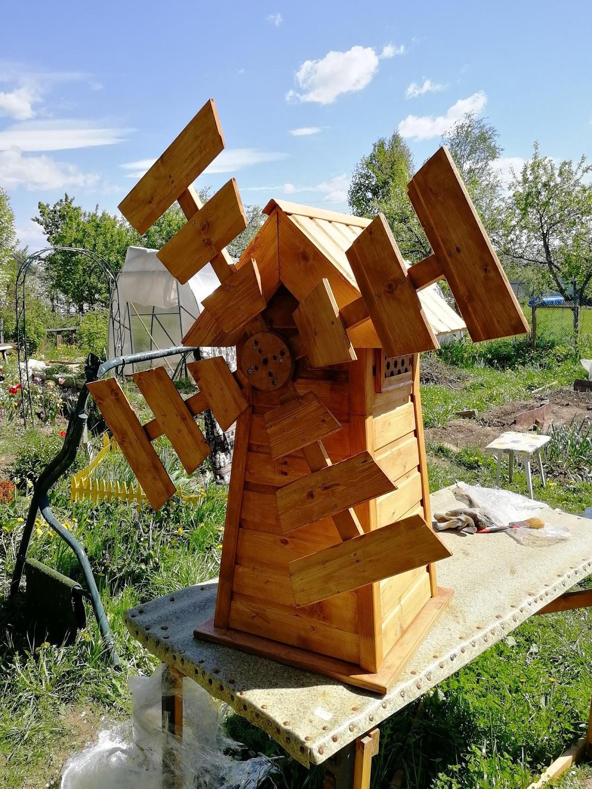 Садовая декоративная мельница своими руками | Пикабу
