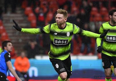 Renaud Emond marque avec le Standard, le Club de Bruges tenu en échec