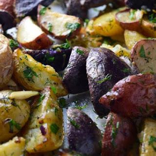 Garlic Herb Rainbow Potatoes