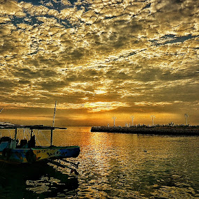 Sunrise at Delegan Beach by Slamet Mardiyono - Landscapes Sunsets & Sunrises