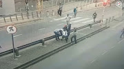 A still of the footage of schoolboy who was strangled and robbed in Hillbrow, Johannesburg.