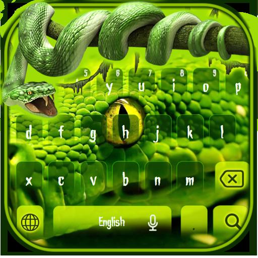 Green Python Snake Keypad