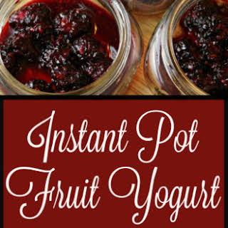 Instant Pot Yogurt With Fruit.