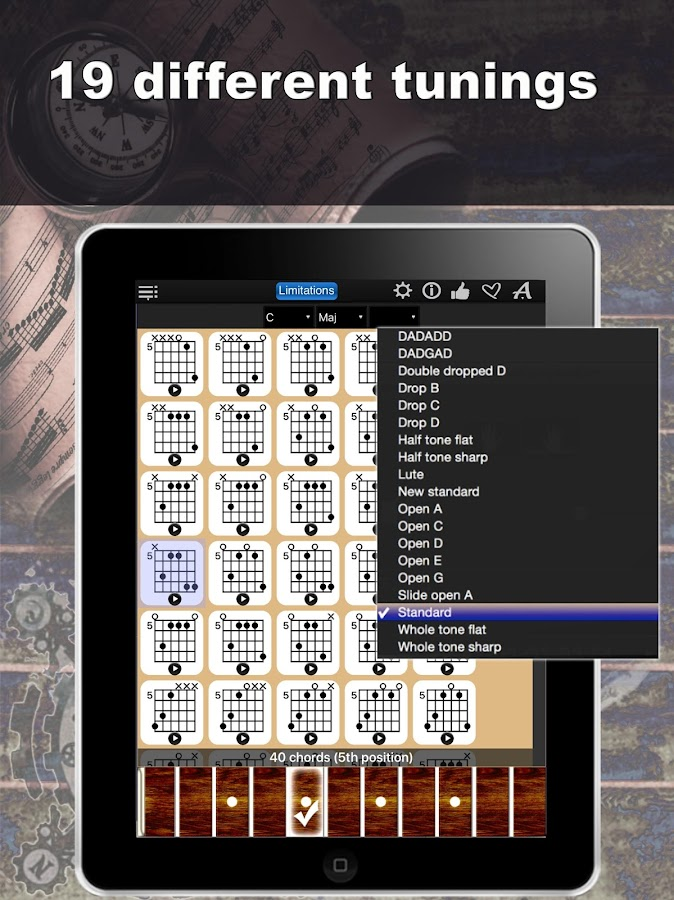 Guitar Chords Compass Lite- screenshot