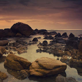 Golden Stone View by Rahaditha Bachtiar Hunowu - Landscapes Waterscapes