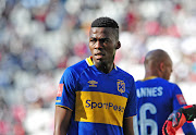 Mpho Matsi of Cape Town City during the Absa Premiership 2017/18 game between Cape Town City and Orlando Pirates at Cape Town Stadium on 28 April 2018.