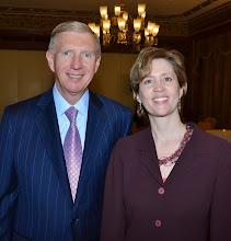 Photo: BBA President Paul Dacier and BBA President-Elect Julia Huston.