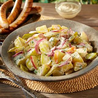 Orientalischer Kartoffelsalat mit Apfel