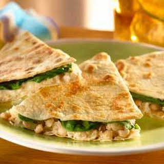 Warm White Bean & Tuna Quesadillas.