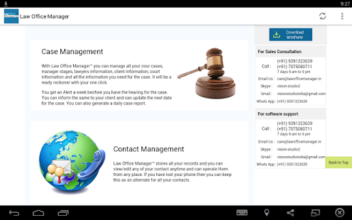 Law office Manager Software- screenshot thumbnail