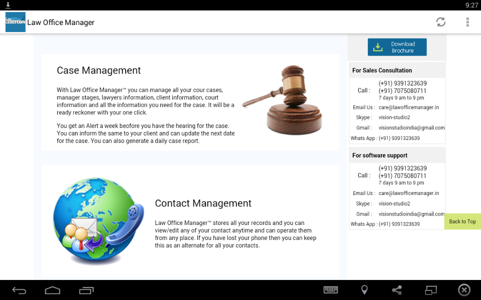 Law office Manager Software- screenshot