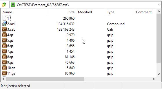 the MSI file