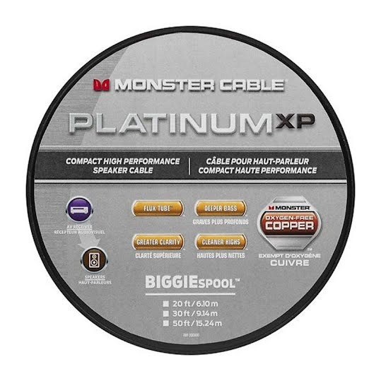 Monster Platinum XP Compact High Performance Högtalarkabel 15 m