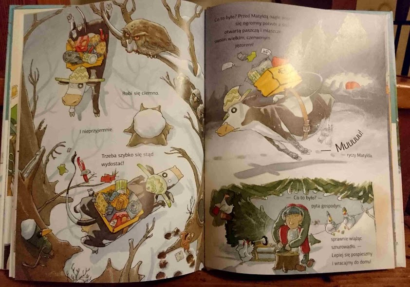 Krowa Matylda I śnieg Synkowe Czytanie