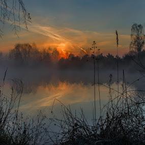 Spring morning by Jiří Valíček - Landscapes Sunsets & Sunrises ( dawn, spring, misty,  )