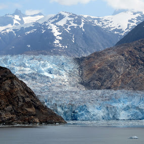 SAWYER GLACIER by Gary Colwell - Landscapes Mountains & Hills ( sawyer glacier, alaska, tracy arm,  )